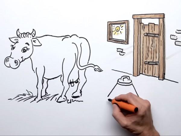 <span>Wie die Kraft der Wiese in die Milch kommt.</span><i>→</i>